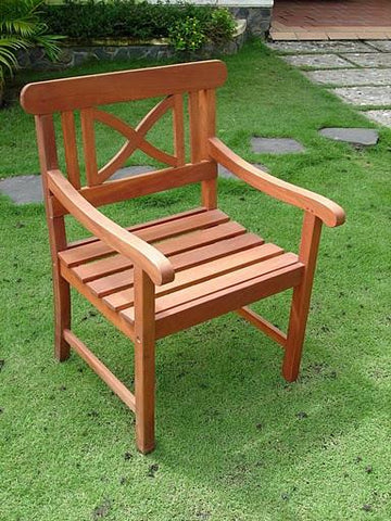 Vifah V99 Outdoor Wood Armchair - Peazz.com