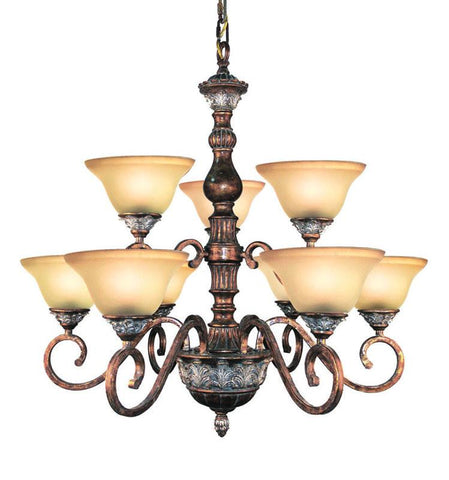 Woodbridge Lighting Worthington 9-light Bark Chandelier - Peazz.com