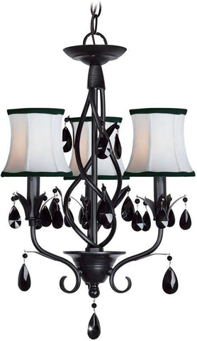 Woodbridge Lighting Avigneau Indoor Lighting Chandelier 12155-BLK - Peazz.com
