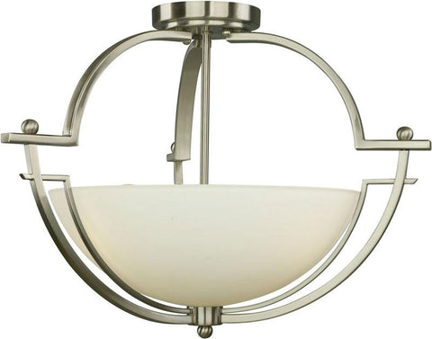 Woodbridge Lighting Aurora Indoor Lighting Semi-Flush Mount 12235-STN - Peazz.com