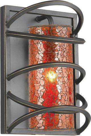 Woodbridge Lighting Loop Indoor Lighting Wall Sconce 12541BLK-M10AMB - Peazz.com