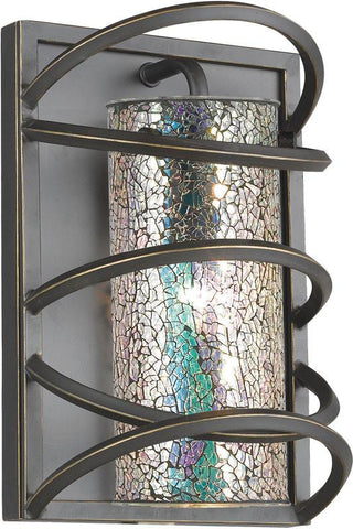 Woodbridge Lighting Loop Indoor Lighting Wall Sconce 12541BLK-M10IRI - Peazz.com