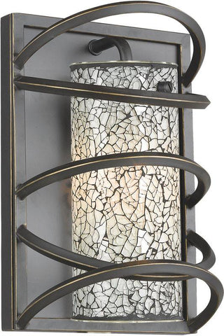 Woodbridge Lighting Loop Indoor Lighting Wall Sconce 12541BLK-M10WHT - Peazz.com