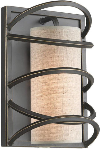 Woodbridge Lighting Loop Indoor Lighting Wall Sconce 12541BLK-S10401 - Peazz.com