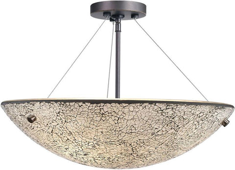 Woodbridge Lighting Dish Indoor Lighting Semi-flush Mount 13635MEB-M50WHT - Peazz.com