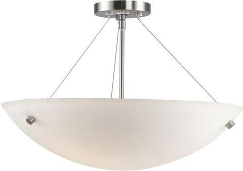 Woodbridge Lighting Dish Indoor Lighting Semi-flush Mount 13635STN-C51801 - Peazz.com