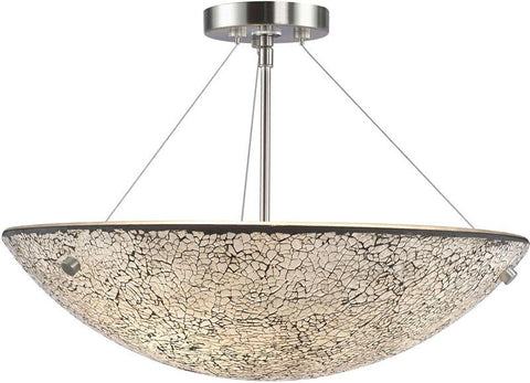 Woodbridge Lighting Dish Indoor Lighting Semi-flush Mount 13635STN-M50WHT - Peazz.com