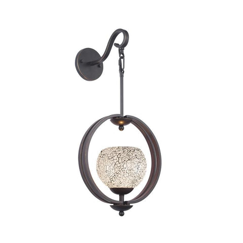 Woodbridge Lighting Geo One Light Wall Sconce in Metallic Bronze - Peazz.com