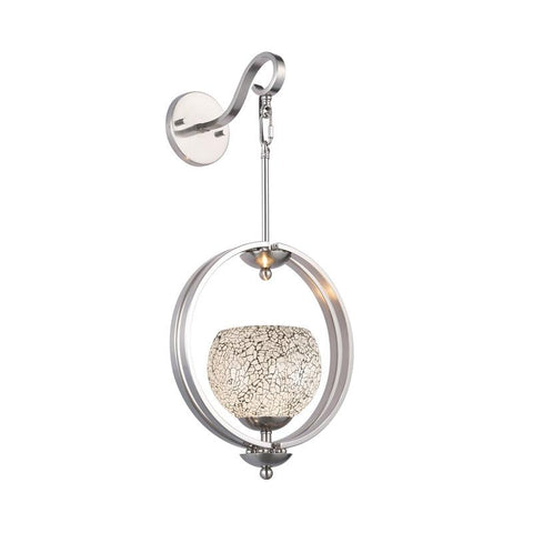 Woodbridge Lighting Geo One Light Wall Sconce in Satin Nickel - Peazz.com