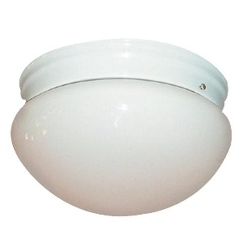 Woodbridge Lighting Basic 2-light White Mushroom Glass Flush Mount - Peazz.com