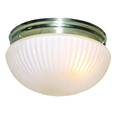 Woodbridge Lighting Basic 1-light Polished Brass Prism Glass Flush Mount - Peazz.com