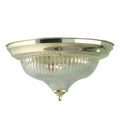 Woodbridge Lighting Basic 1-light Swirl Glass Polished Brass Flush Mount - Peazz.com