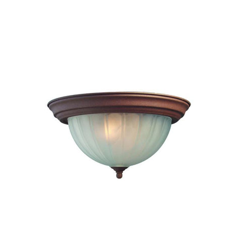 Woodbridge Lighting Basic 1-light Antique Bronze Flush Mount - Peazz.com