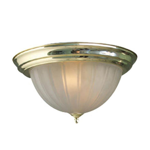 Woodbridge Lighting Basic 1-light Melon Glass Polished Brass Flush Mount - Peazz.com