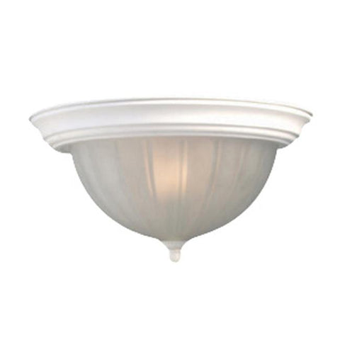 Woodbridge Lighting Basic 1-light Melon Glass White Flush Mount - Peazz.com