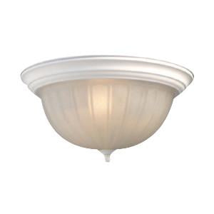 Woodbridge Lighting Basic 2-light Melon Glass White Flush Mount - Peazz.com
