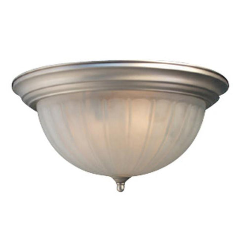 Woodbridge Lighting Basic 3-light Satin Nickel Flush Mount - Peazz.com