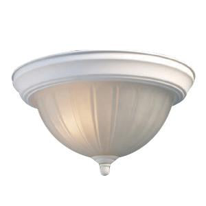 Woodbridge Lighting Basic 3-light Melon Glass White Flush Mount - Peazz.com