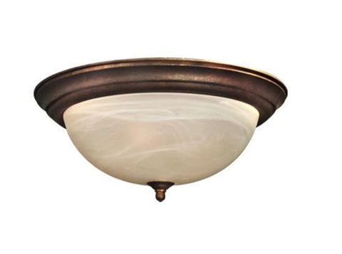 Woodbridge Lighting Anson 2-light Marbled Bronze Flush Mount - Peazz.com
