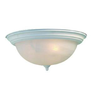 Woodbridge Lighting Basic 2-light White Flush Mount - Peazz.com