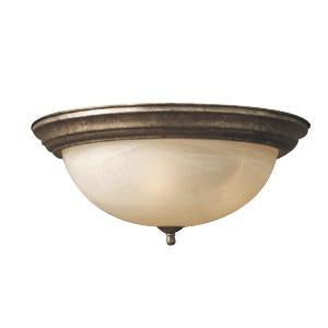 Woodbridge Lighting Dresden 3-light Greystone Flush Mount - Peazz.com