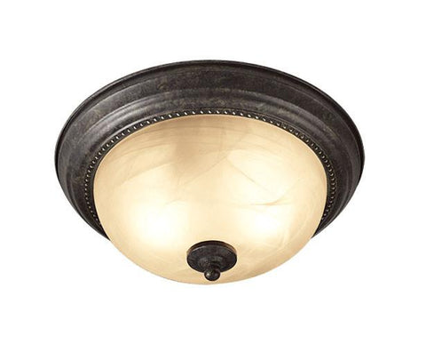 Woodbridge Lighting Calais 2-light Burnish Bronze Flush Mount - Peazz.com
