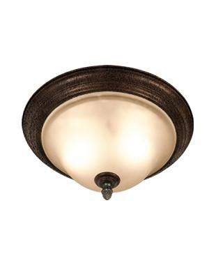 Woodbridge Lighting Rosedale 2-light Tortoise Shell Flush Mount - Peazz.com