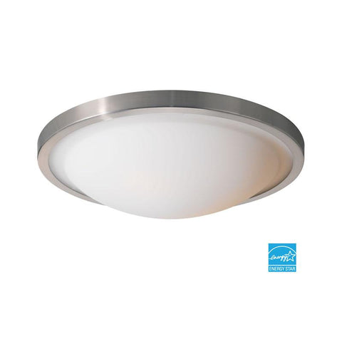Woodbridge Lighting Energy Saving 2-light Satin Nickel Flush Mount - Peazz.com