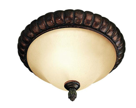 Woodbridge Lighting Hawthorne 2-light Aged Bark Flush Mount - Peazz.com