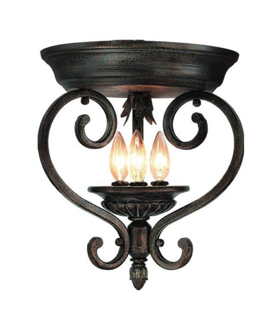 Woodbridge Lighting Hawthorne 3-light Aged Bark Flush Mount - Peazz.com