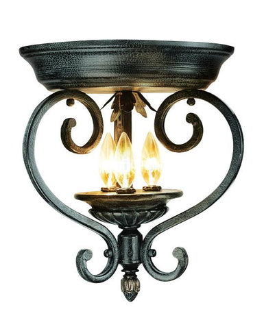 Woodbridge Lighting Rosedale 3-light Tortoise Shell Flush Mount - Peazz.com