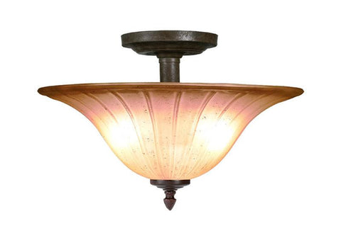 Woodbridge Lighting Broadmore 2-light Bordeaux Semi Flush Mount - Peazz.com