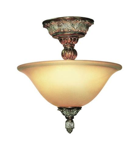 Woodbridge Lighting Worthington 2-light Bark Semi Flush Mount - Peazz.com
