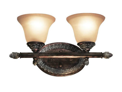 Woodbridge Lighting Worthington 2-light Bark Bath Light - Peazz.com