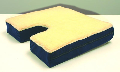 Rose Healthcare R4005G Coccyx Seat Cushion with Gelpad and Fleece Top - Peazz.com