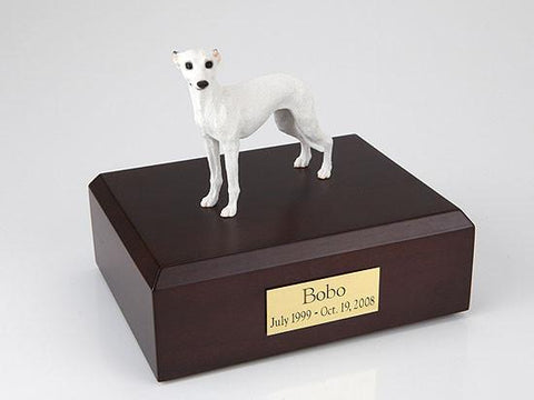 Whippet, White TR200-893 Figurine Urn - Peazz Pet - 1