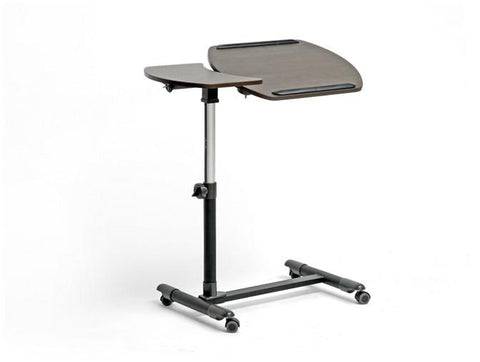 Wholesale Interiors AA-10T-1(wenge)-desk Olsen Brown Wheeled Laptop Tray Table with Tilt Control - Each - Peazz.com