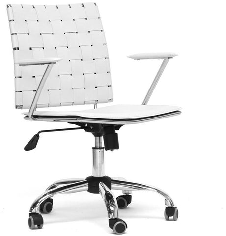 Wholesale Interiors ALC-1866C-white-OC Vittoria White Leather Modern Office Chair - Each - Peazz.com