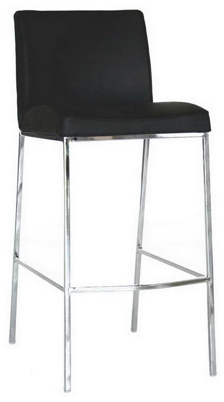Wholesale Interiors Black Leather Bar Stool Mesa