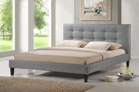 Wholesale Interiors BBT6326-King-Grey (B-86) Quincy Gray Linen Platform Bed - King Size - Each - Peazz.com