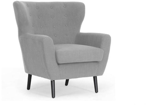 Wholesale Interiors BH201212-7028-L003-Grayish Beige-CC Lombardi Light Gray Linen Modern Club Chair - Each - Peazz.com