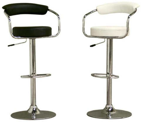Wholesale Interiors BR0022BK Omicron Stool - Set of 2 - Peazz.com