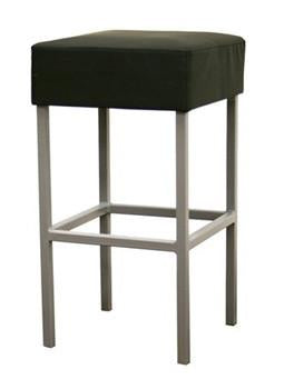 "Andante Black Faux Leather Counter Stool 13.25"" - Peazz.com"
