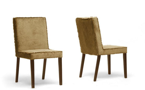 Wholesale Interiors Cube Dining Chair-109/712 Cuba Brown Microfiber Modern Dining Chair - Set of 2 - Peazz.com