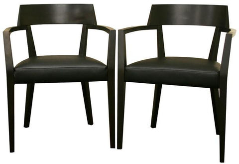 Wholesale Interiors DC-587-Dark Brown Laine Wenge Wood and Faux Leather Modern Dining Chair - Set of 2 - Peazz.com