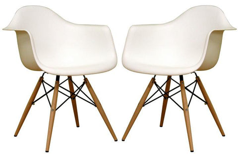 Wholesale Interiors DC-866-white Pascal White Plastic Chair - Set of 2 - Peazz.com