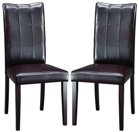 Wholesale Interiors Eveleen Dining Chair-107/540 Eden Dark Brown Modern Dining Chair - Set of 2 - Peazz.com