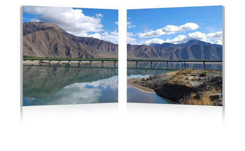 Wholesale Interiors FG-1081AB Causeway through the Mountains Mounted Photography Print Diptych - Each - Peazz.com