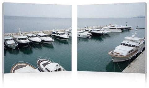 Wholesale Interiors FG-1082AB Yacht Congregation Mounted Photography Print Diptych - Each - Peazz.com