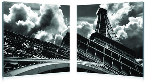 Wholesale Interiors HB-2008AB Touch the Clouds Mounted Photography Print Diptych - Each - Peazz.com